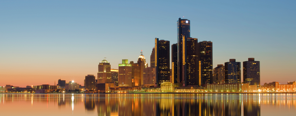 Picture of Detroit from Canada